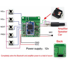 DC 12V CSRA64215 For APTXLL Audio Car Modified speakers Amplifier Car Bluetooth Lossless Music Hifi Bluetooth 4.2 Receiver Board