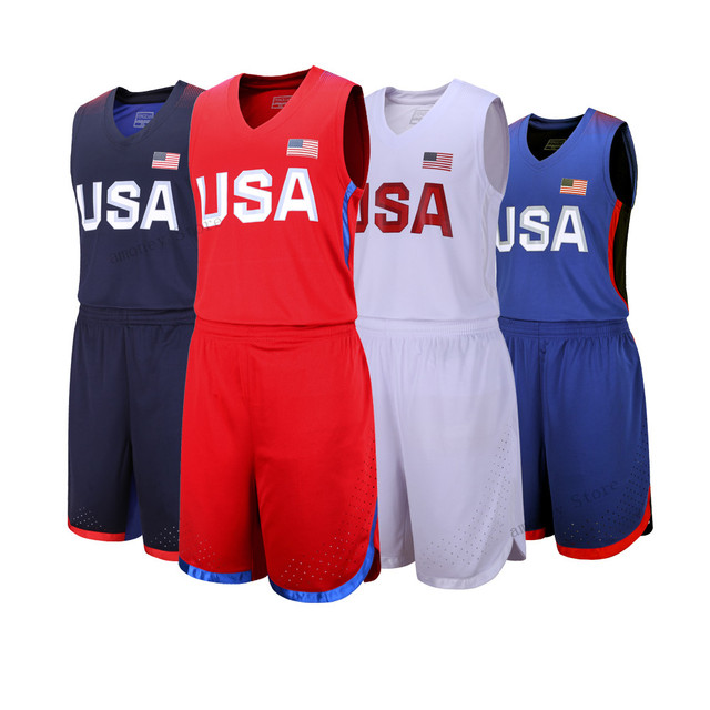 9a243d06d76 Adsmoney High Quality American team training Basketball Set USA Basketball  Jersey College Cheap Basketball Jersey