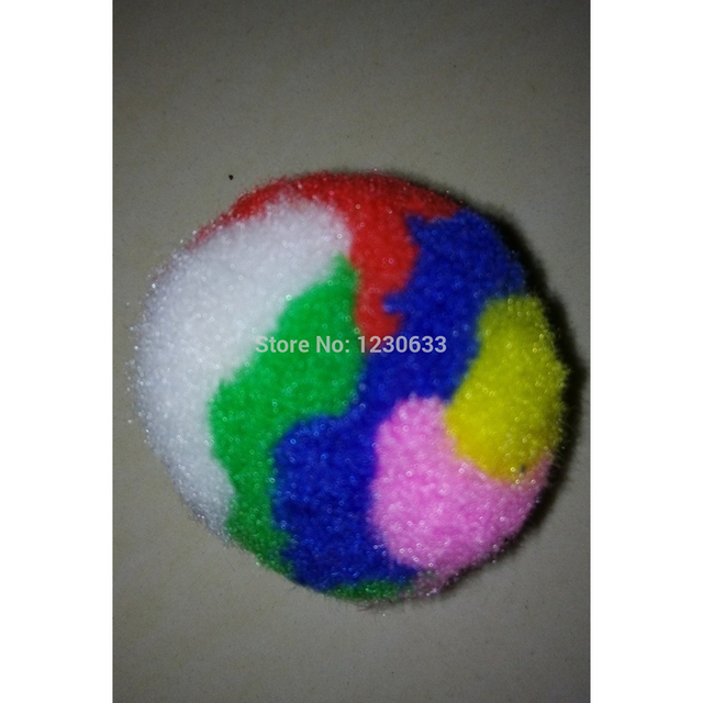 Westrice 3cm Feel Unique Color Pompon Toys Ball, Pet Toys For Cats And Dogs