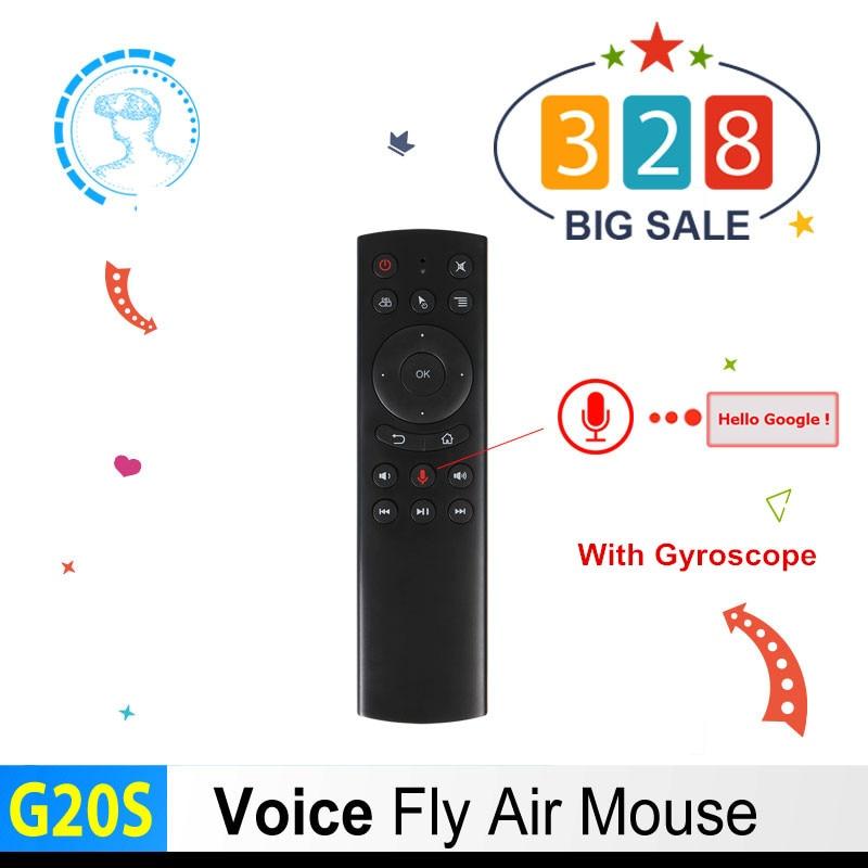 Neue G20S Voice Control 2,4G Wireless Fly Air Maus Tastatur Motion Sensing Mini Fernbedienung IR LearningFor Android TV box PC