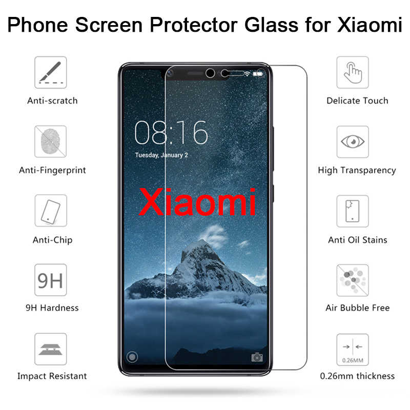 Transparent Tempered Glass for Pocophone F1 Screen Protector Toughed HD Phone Film for Xiaomi Mi 6 5S Plus 5 4 3 2 4i 4C 4S