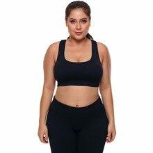 34897e2dab49b HANQING Plus Size Yoga Bra U-neck Short Sport Vest Sleeveless Fitness  Clothes Underwear Anti