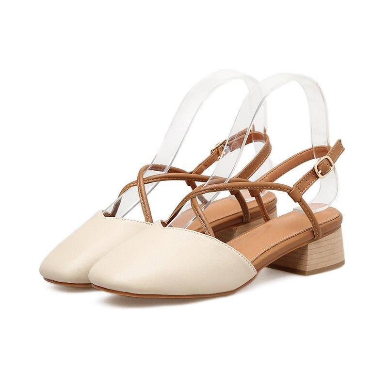 098e6e973d51 2019 Women Summer Korea Cute 5cm Low High Heels Sandals Female ...