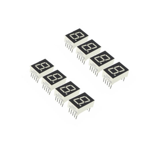 5pcs Red 7 Segment 0.5'' LED Display Digital Tube Common Anode 1 Bit NEW