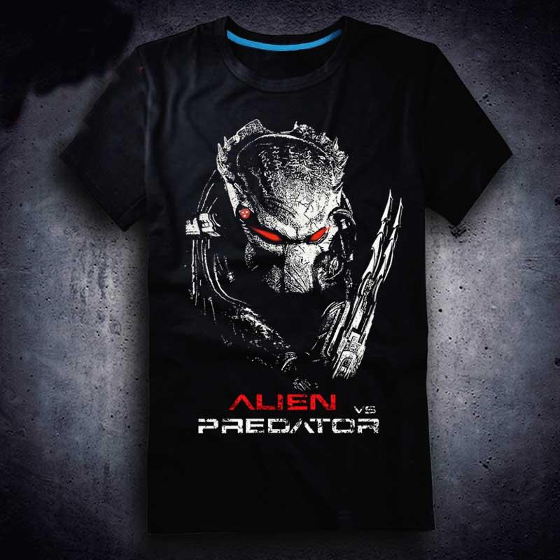 3D Film New Aliens Vs Predator 2 Requiem T-shirt Game AVP2 Men T Shirt Cotton Summer Short-sleeve Tees Tops Tee Plus Size