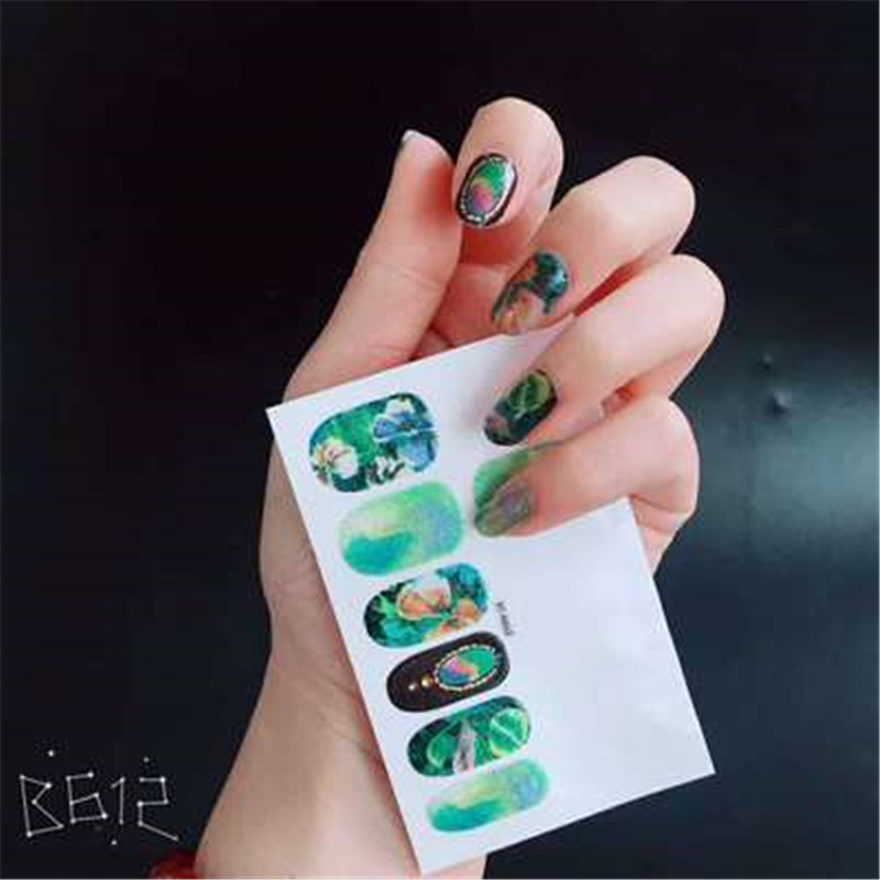 Follome New Fashion Nail Stickers Nail Art Water Decals DIY Manicure ...
