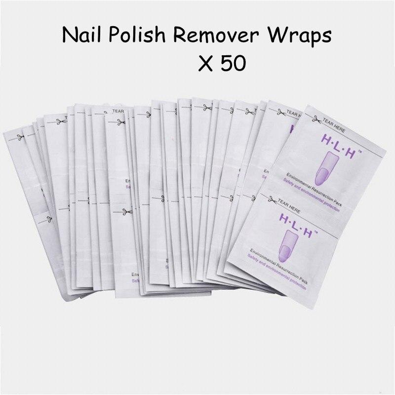 New 1 Lot Gel Nail Polish Remover Lint-Free Cleaner Wipes Easy Soak Off Art Manicure Wraps UV Nails polish RW01