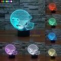 NFL Seattle Seahawks de Luz Nocturna en 3D 1 Unidades Envío Gratis 7 Colores Cambian LED Lámpara de Mesa Creativa de La Noche de Regalo de Navidad lámpara