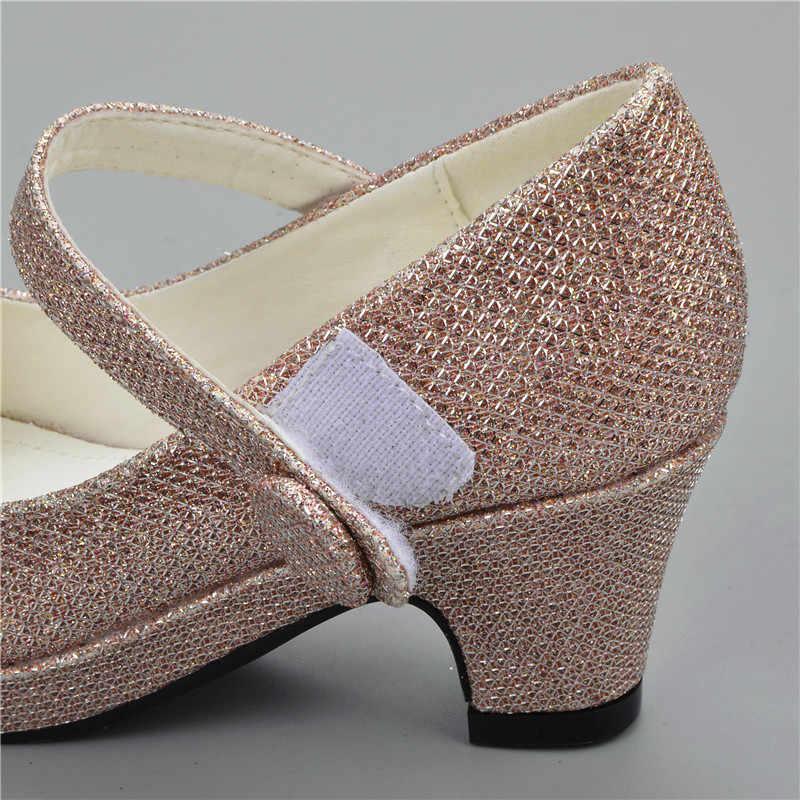 ea1dd41aa ... ULKNN 2019 sandalias para niños niñas rhinestone tacón alto boda zapatos  de fiesta de princesa bebé