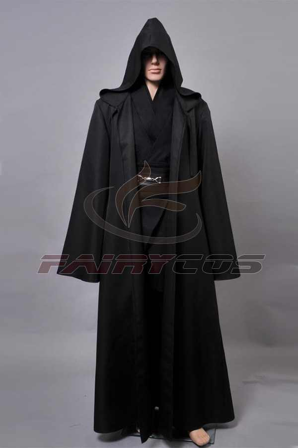 Star Cosplay Wars Revenge Of The Sith Anakin Skywalker Cosplay Kostuum Black Robe Mantel Halloween Cosplay Kostuums