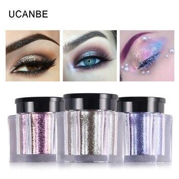 UCANBE Glitter Eye Shadow 8 Colors Loose Powder Pigments Diamond Shine Eyeshadow Waterproof Makeup Metallic Crystal Nude Powder