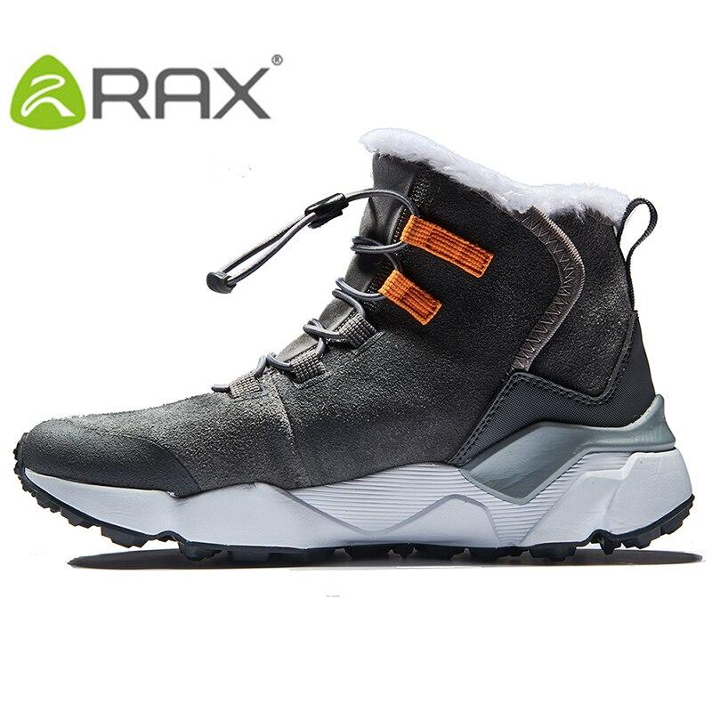 Bottes de randonnée femme RAX bottes de neige d'hiver femmes chaussures de randonnée en plein air Trekking chaussures antidérapantes chaudes pour femmes