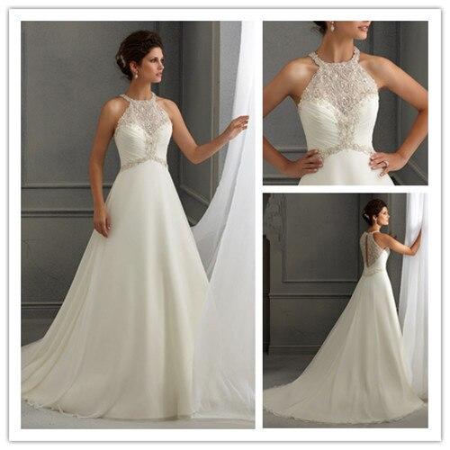 boho vestido de boda apliques de perlas bordado blanco organza del