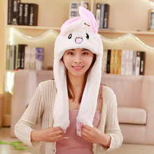 hot sell plush cartoon animal style hat for gift soft cap