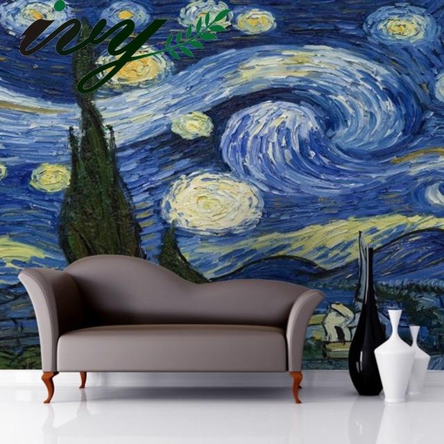 IVY MORDEN Vintage Van Gogh Art Mural Wallpaper 3D Large Murals Walls  Starry Night Painting Wall Part 9