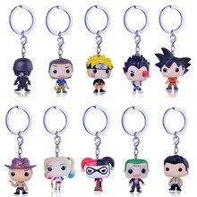 ФОТО  pocket pop cute keychain the movie anime marvel key chain theme action figure collectible model walking dead nick keyring