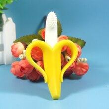Безопасного экологически дешевый детского зубные прорезыватель банан ребенком ухода кольца зубная