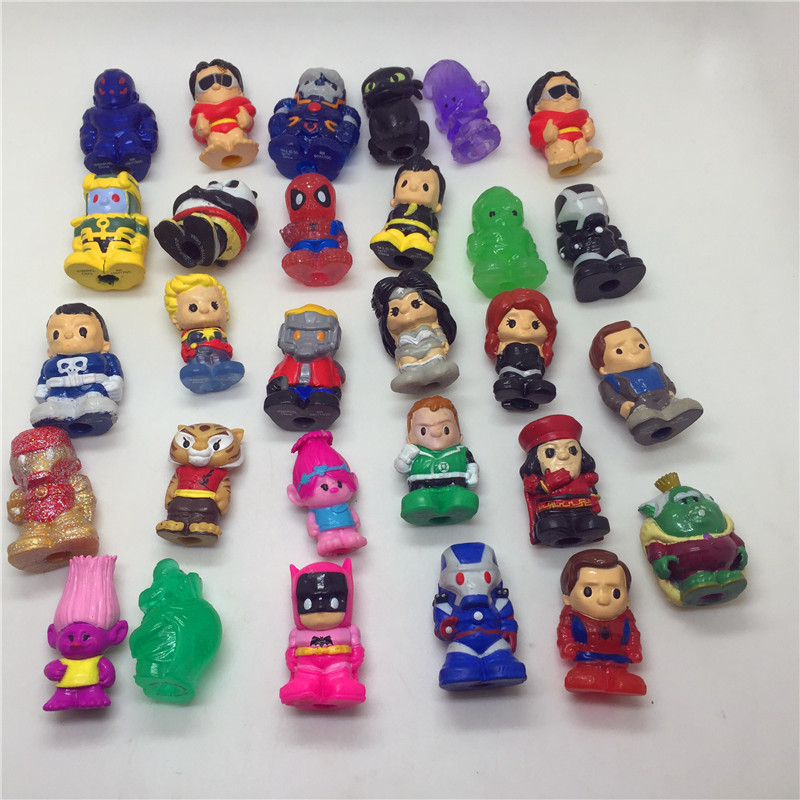 30pcs/lot very cute cartoon soft rubber dolls toys Action Figures Toys for kids image