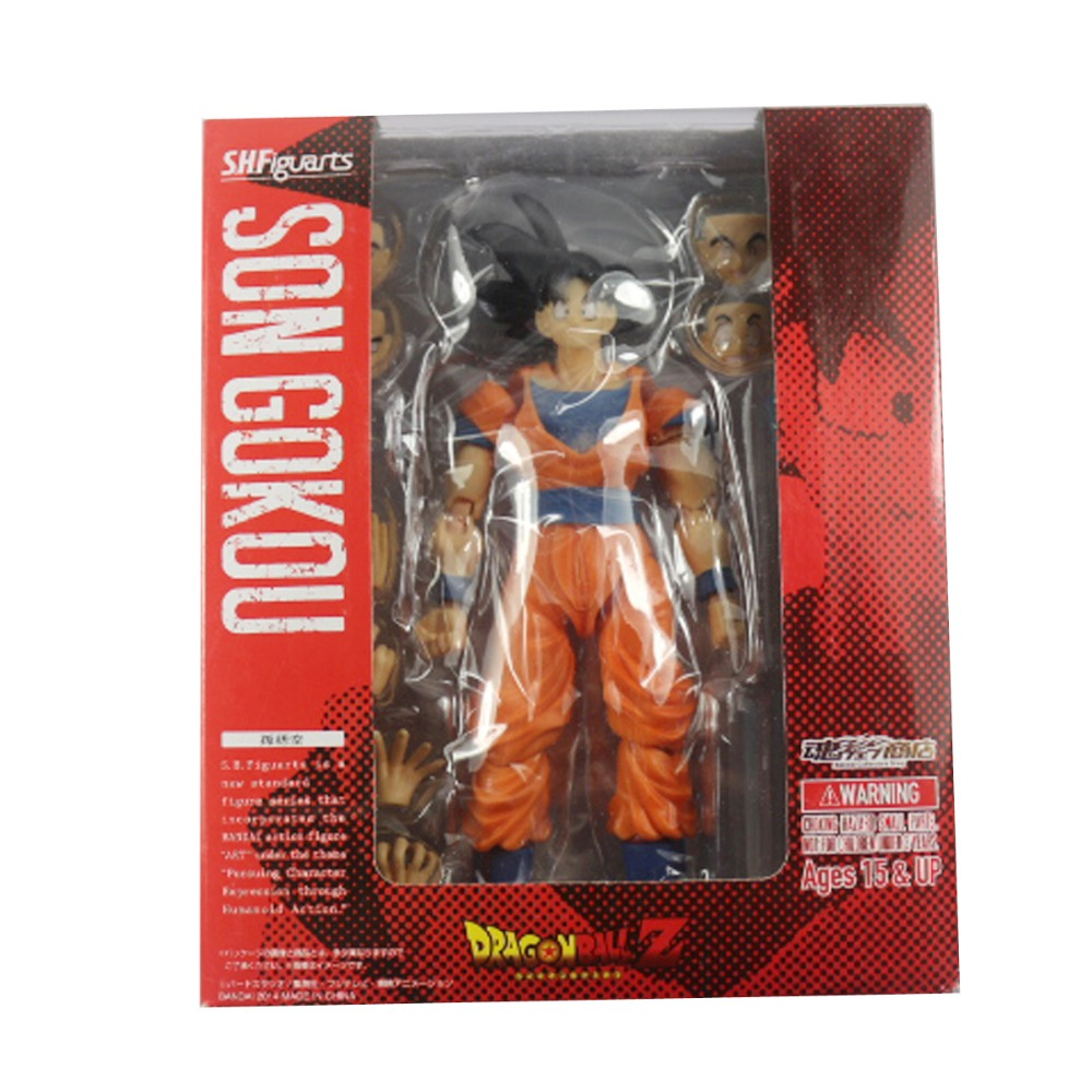 Dragonball Z DBZ S.H.Figuarts Son Goku Collectible 6.3 Action Figure New in Box Free Shipping 3 colors sleeveless dress 2016 summer style floral print club dresses vintage polyester elegant cheap women cloth
