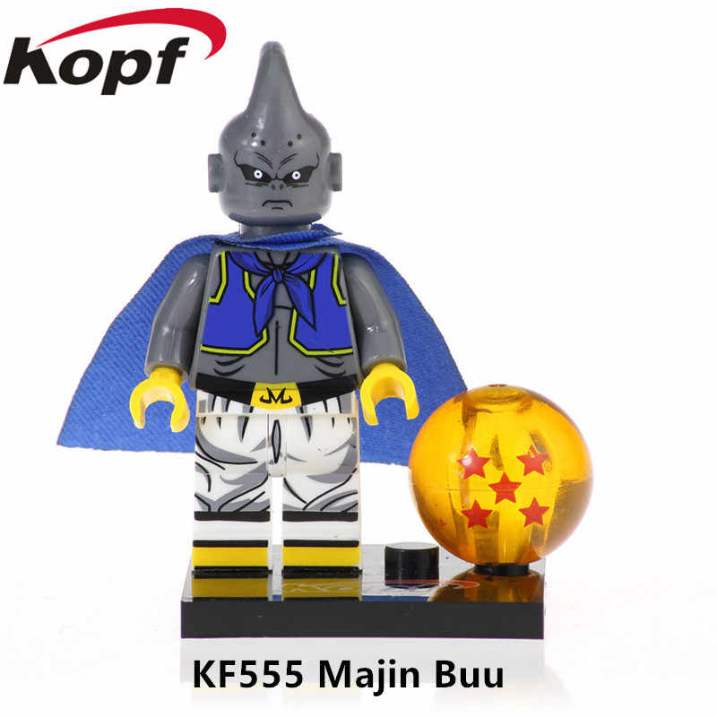 KF558 シングル販売スーパーモデルドラゴンボールレンガトランクスフィギュア孫悟空ゴボウ Broli のためのビルディングブロック子供のおもちゃのギフト