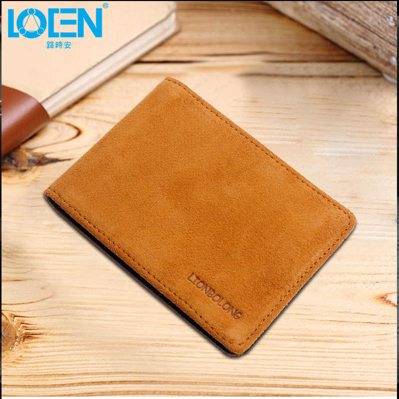 LOEN 1PC Plush Leather Car Driver License  Wallet Case Cover Bag Car Driving Documents Auto Card Credit Holder Purse For BMW
