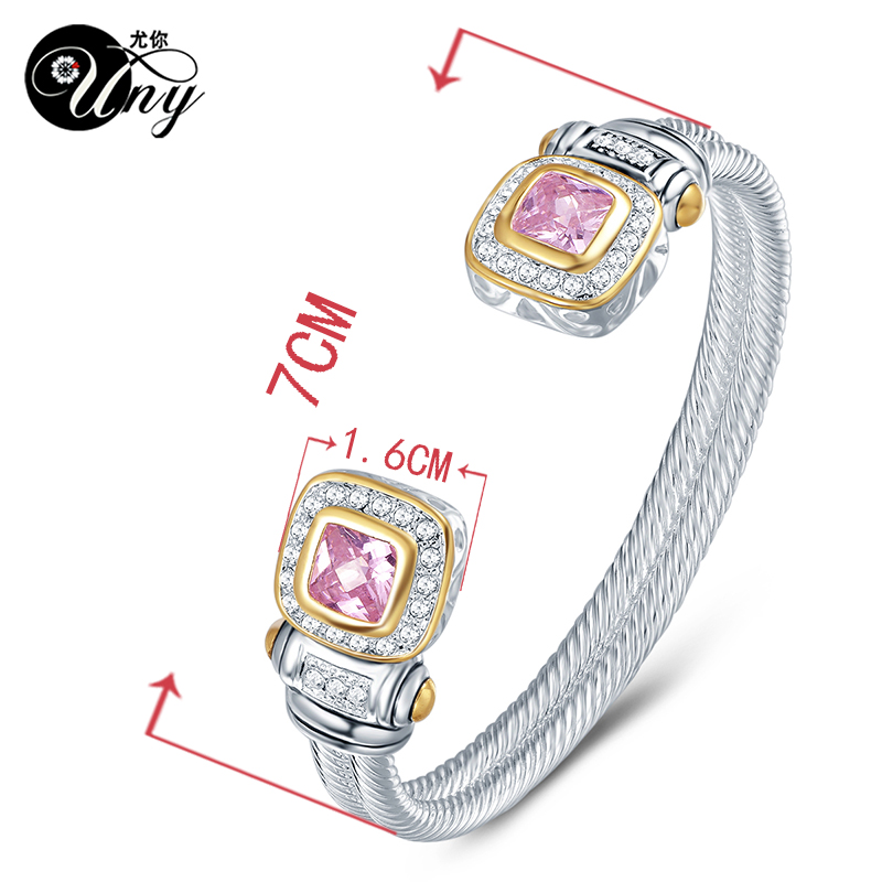 UNY Bracelet Twisted Wire Cable Bangle Fashion Designer Brand ...