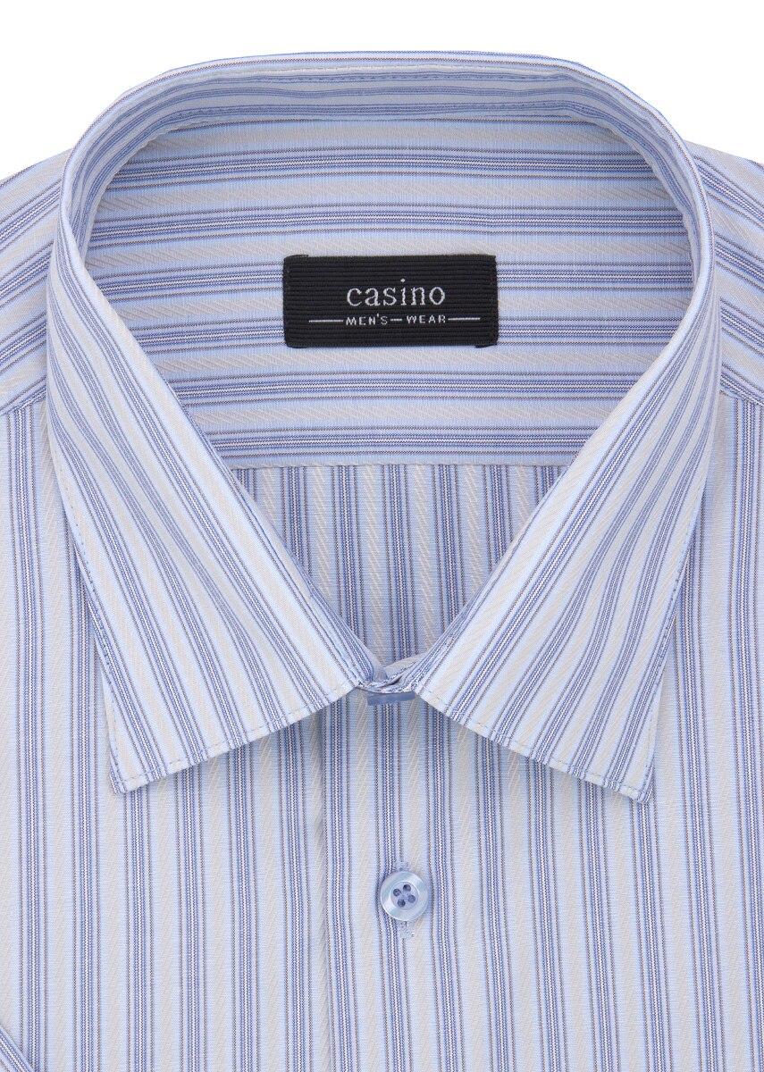 Shirt men's short sleeve CASINO c221/0/2757 Blue v neck flower and bird print plus size short sleeve men s t shirt