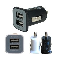 2-Port USB Charger Universal Dual USB Car Charger Adapter Bullet 5V 2.1A + 1A for iPhone Smart Phones On Vehicle Charging #7(China)