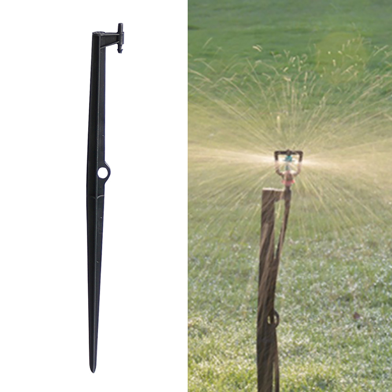 Rotating Micro-nozzles Bracket 45cm Long Rod For Agriculture Garden Irrigation 4/7 Mm Hose Connector 3 Pcs