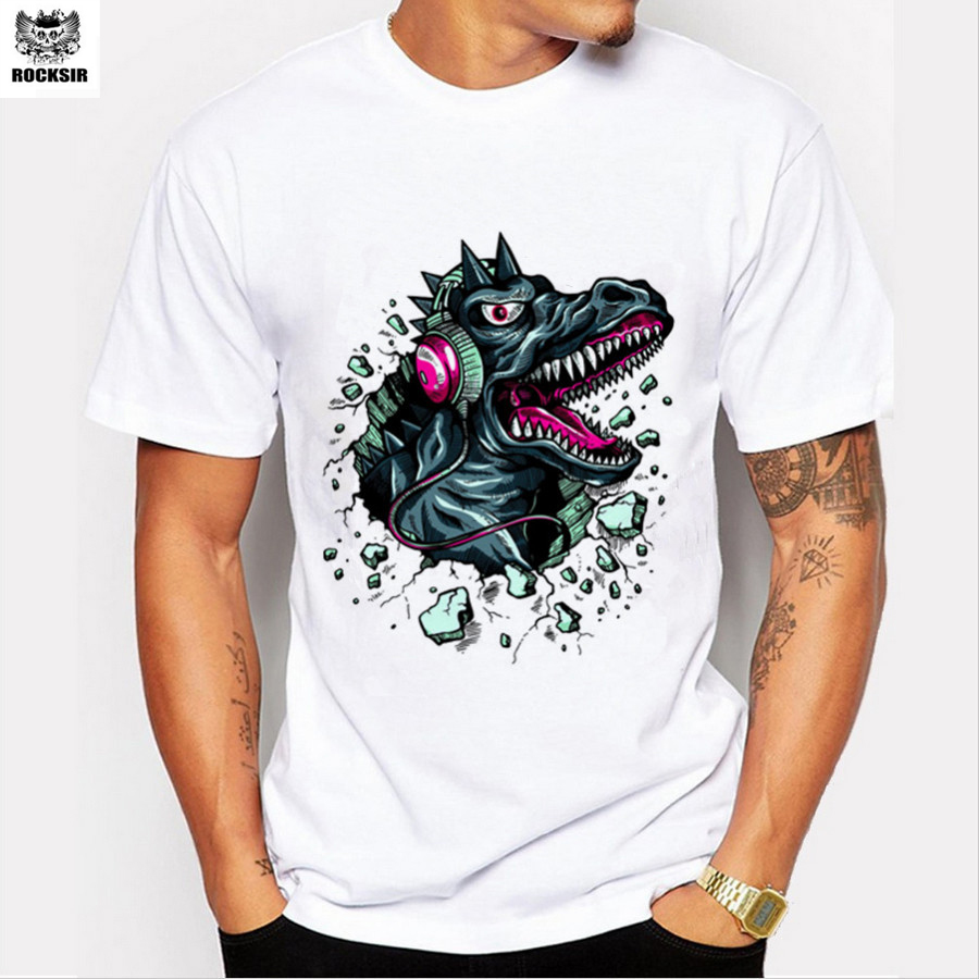 Rocksir casual style men 39 s short sleeve unique design for Best online tee shirt printing