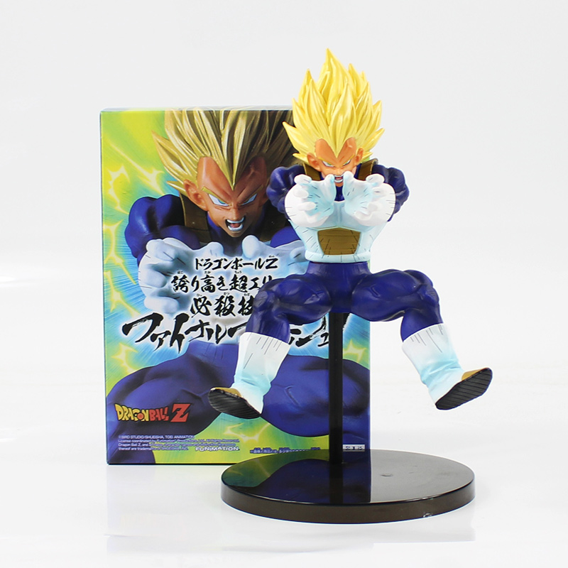 22cm Dragon Ball Z Super Saiyan Vegeta fighting action figure model toy cool pvc dragonball son goku kakarotto vegeta figure toy new hot 21cm dragon ball super saiyan 3 son goku kakarotto action figure toys doll collection christmas gift with box sy889
