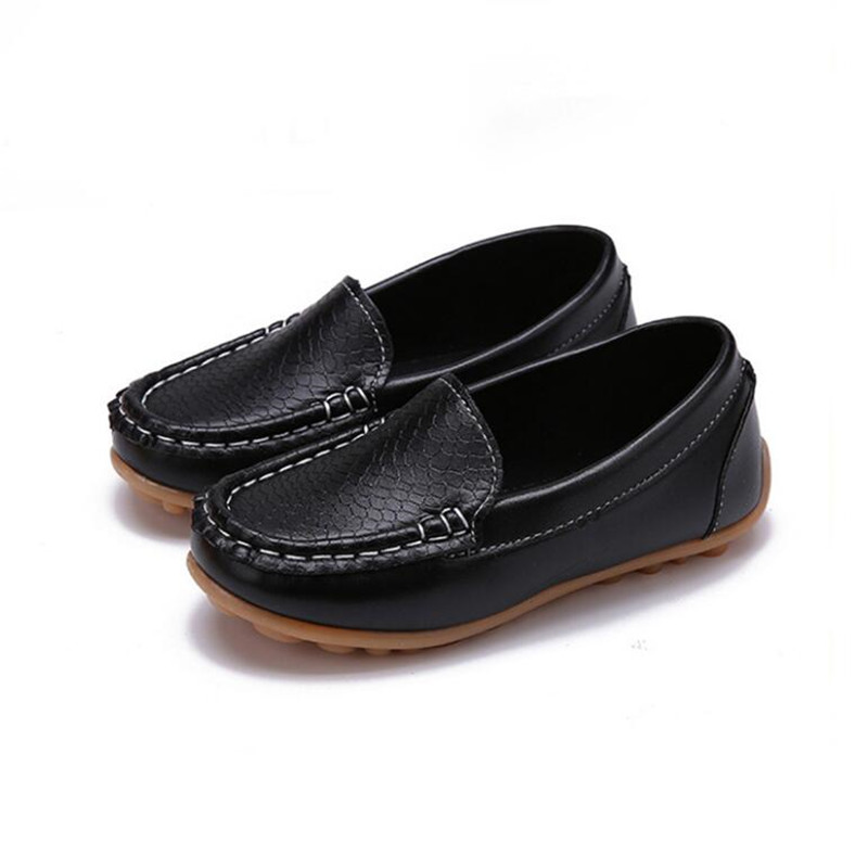 MHYONS 2019 New Fashion Kids Shoes All Size 21-30 Children PU Leather Sneakers For Baby Shoes Boys/Girls Boat Shoes Slip On Soft