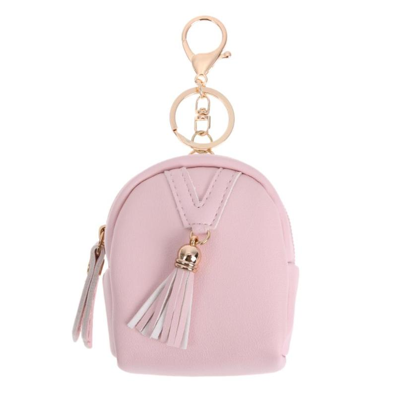 PU Leather Tassel Pendant Wallet Women Key Holder Housekeeper Keys Organizer Key Case Bag Coin Pouch Purse