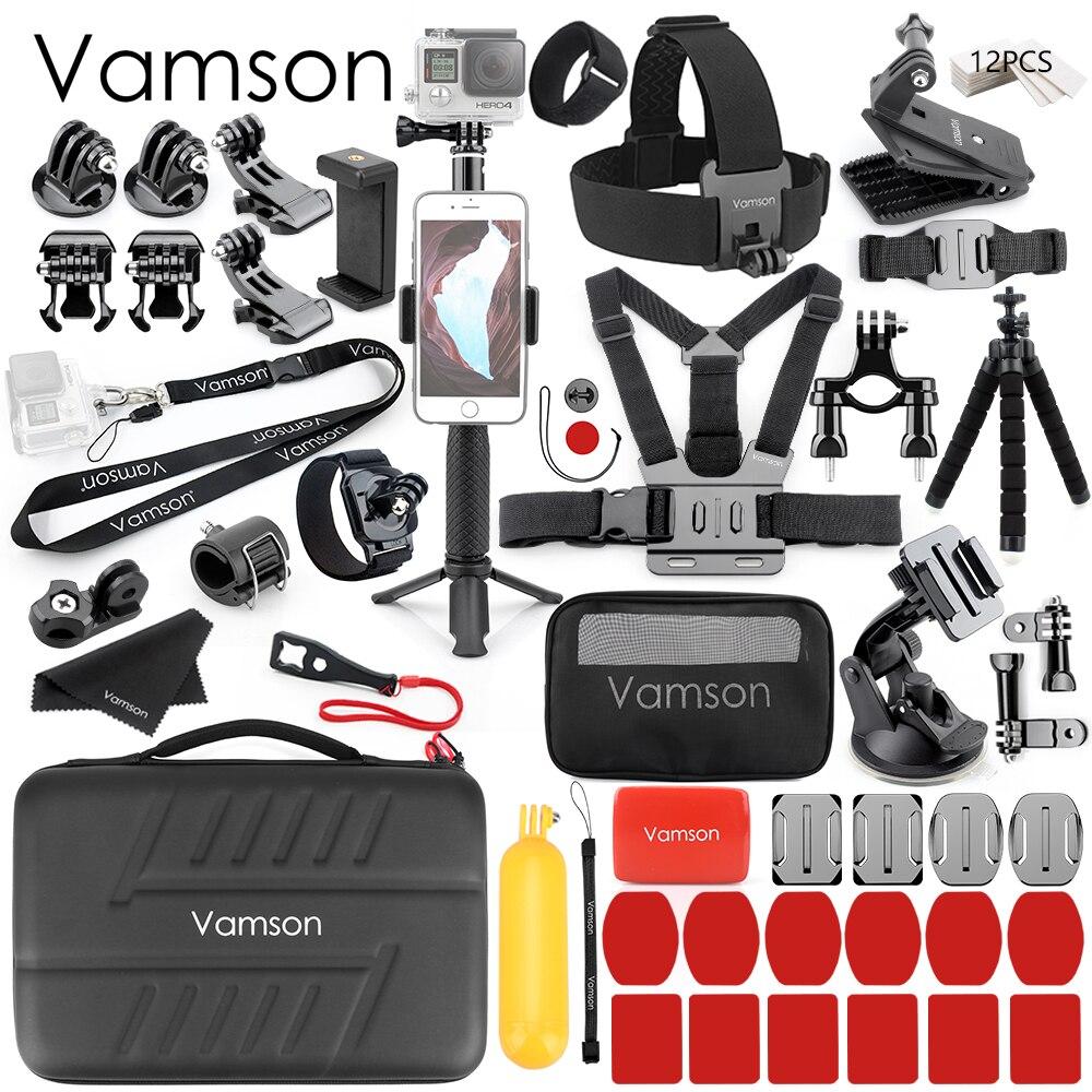 Vamson pour Xiaomi yi 4K monopode trépied pour Gopro Hero 6 5 7 support d'aspiration pour DJI OSMO caméra d'action pour SJCAM pour Mijia VS81
