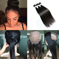 Pre Plucked 360 Lace Frontal With Wig Cap Add 3pcs Peruvian Straight Hot Beauty Hair 4pcs/Lot 360 Lace Frontal With Bundles
