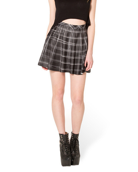 Μίνι καρό κόκκινη κίτρινη μαύρη φούστα και σε μεγάλα μεγέθη μέχρι 4xl skater