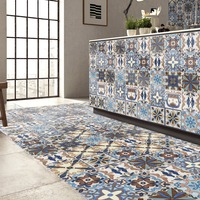 Colorful 5M 20CM Wall Tiles Sticker Kitchen Waist Line Adhesive Bathroom Toilet Waterproof PVC Sticker Wallpaper