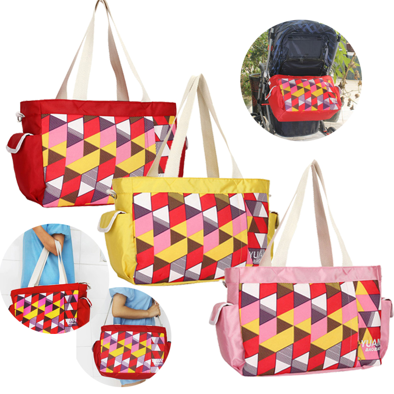 Diaper Bag Multicolored Maternity Mother Mummy Geometric Nappy Bags Multifunctional Stroller Bags Shoulder Handbag Baby Care mother bag baby bags multifunctional designer multifunctional diaper tote shoulder printing mummy durable bolsa nappy bag