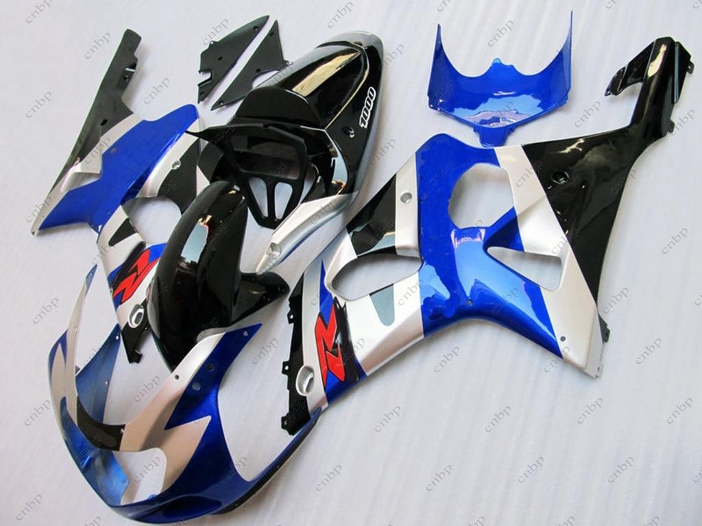 Fairing Kits GSX-R1000 2001 Fairing GSX R 600 750 1000 2003 2000 - 2003 K1 K2 Blue Black Body Kits GSX R 600 750 1000 2003