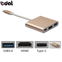 15CM 3 In 1 Type C USB 3 1 Male To HDTV HDMI USB 3 0