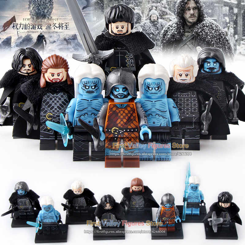Game of Thrones Final Season Figure Jon Snow Benjen Stark White Walker Wights Jeor Mormont Model Building Blocks Toys KT1024