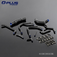 Silicone Radiator Hose Kit Clamps For TOYOTA LAND CRUISER HDJ80 1HD T FT 4 2L