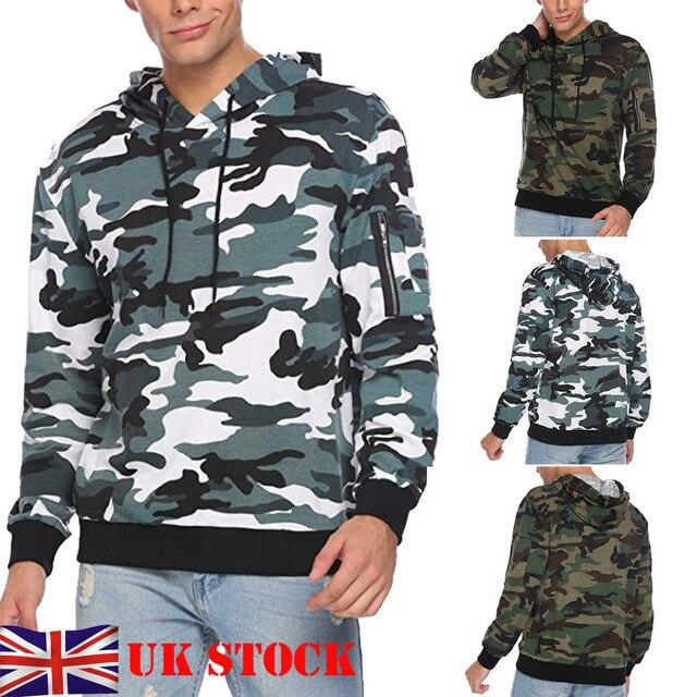 5c1fc8eee83e 2019 Thefound New Mens Woodland Camouflage Fashion Sweatshirt Camo Hoodie