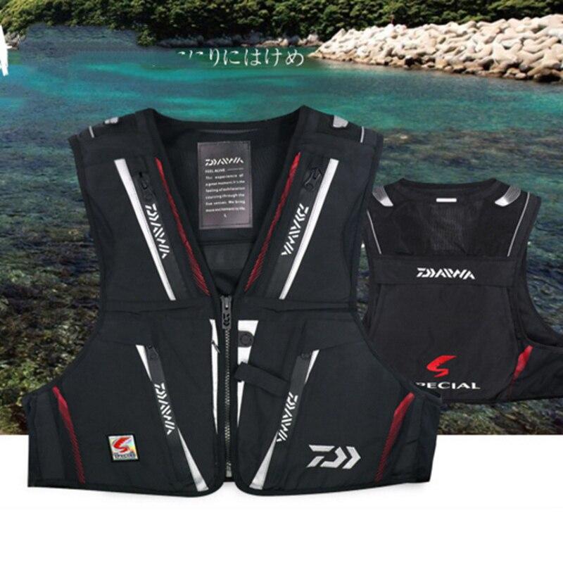 DV-1104 Colete De Pesca Ao Ar Livre dos homens do Esporte de Multi Bolso do Colete de Pesca Jaqueta Com Decote Em V À Prova D' Água Roupas De Pesca Respirável