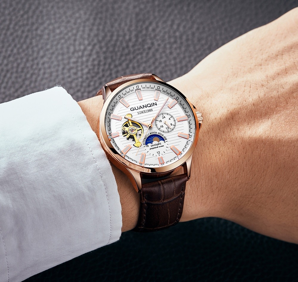 HTB1MUUPvRnTBKNjSZPfq6zf1XXad GUANQIN 2019 new watch men waterproof Automatic Luminous men watches top brand luxury skeleton clock men leather erkek kol saati