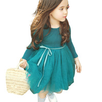 EMS DHL Free Shipping 2017 New Spring Autumn Tulle Dress Baby Girls Kids Toddlers Dress