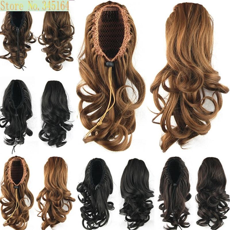 compare drawstring ponytail