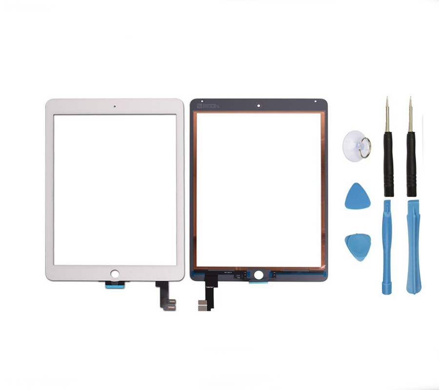 OEM High quality LCD Glass Lens Touch Screen Digitizer With Flex cable For iPad 6 / Air 2 A1566 A1567