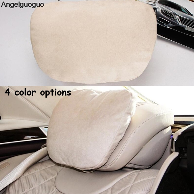 angelguoguo 2 pcs si ge de voiture appui t te cou soutient la t te de repos de cou coussin pour. Black Bedroom Furniture Sets. Home Design Ideas