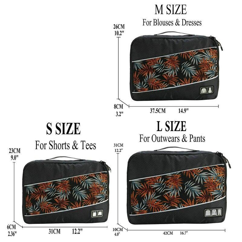 Soperwillton упаковочные кубики, нейлоновая дорожная сумка-Органайзер, Воздухопроницаемая сетчатая дорожная сумка для мужчин и женщин, органайзер для путешествий - Цвет: Black S-M-L